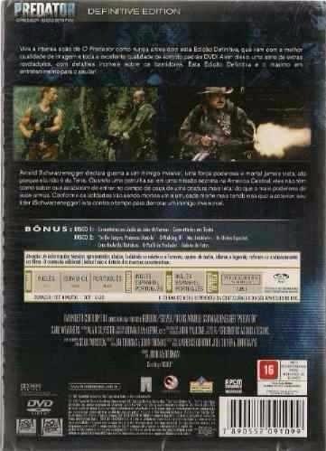o predador dvd duplo c/ luva lacrado schwarzenegger