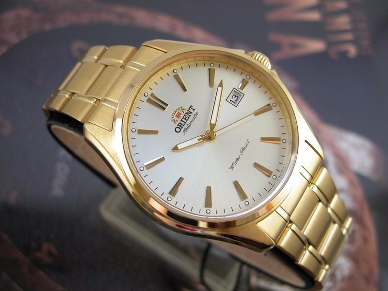 852b34f651a o r i e n t relógio orient automatico classico plaque ouro. Carregando zoom.