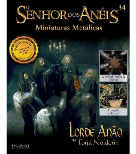 o senhor dos anéis - lorde anão na forja noldori - miniatura