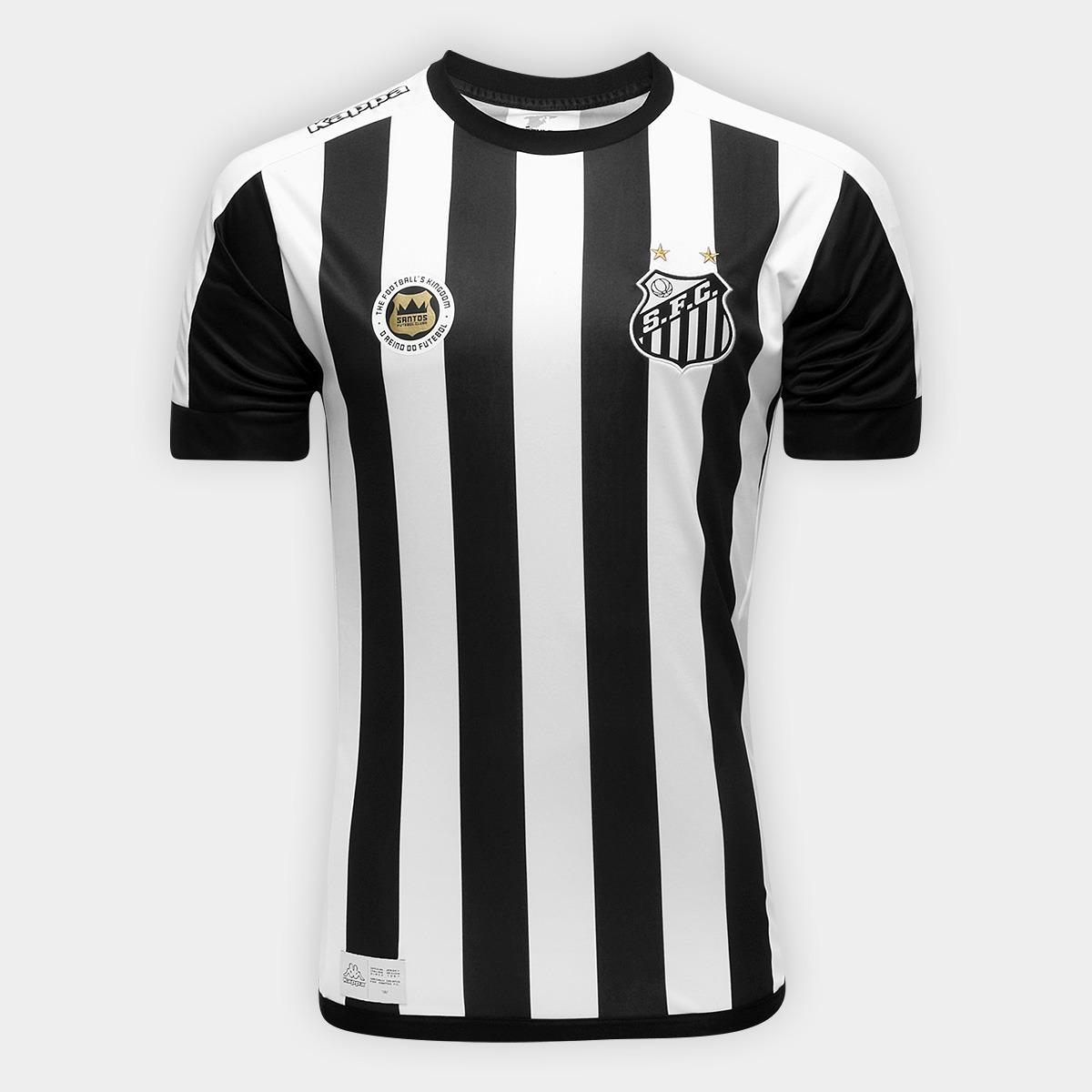 59b0db3225 O U T L E T 049 - Camisa Santos Oficial Kappa Away 2017 2018 - R  88 ...