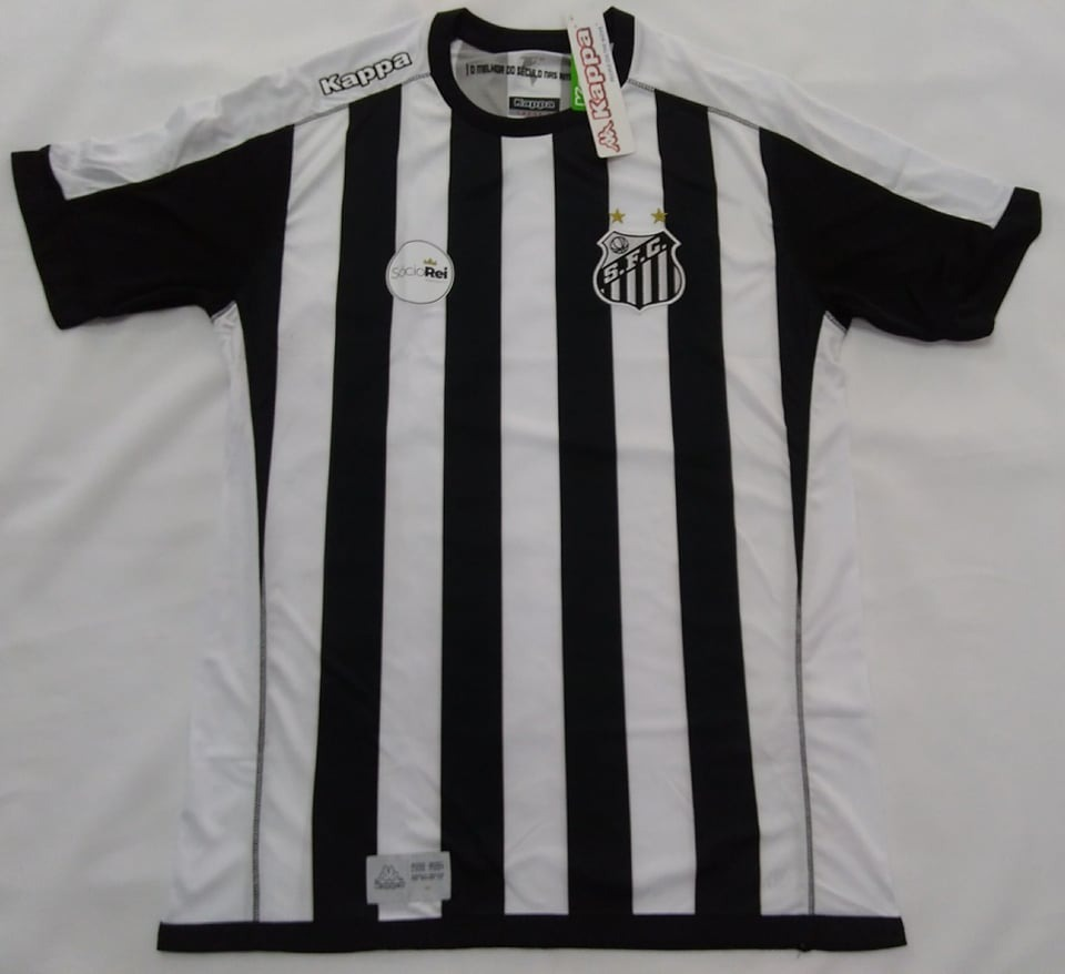 O U T L E T 053 - Camisa Santos Oficial Kappa Away 2017 2018 - R  78 ... e6f9874fce820
