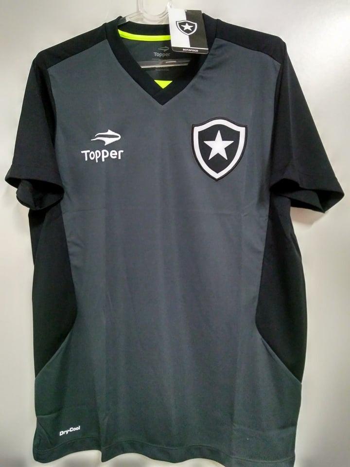 O U T L E T 513- Camisa Botafogo Treino Oficial Topper 2016 - R  78 ... 0b52529bc10fa