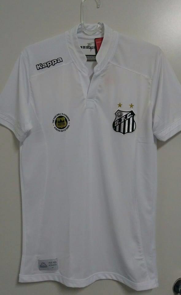 O U T L E T 528 ! Camisa Santos Home Oficial Kappa 2016 2017 - R  78 ... c1def812a6708