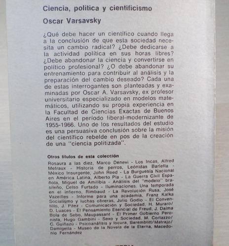 o. varsavsky - ciencia política y cientificismo