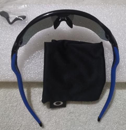 oakely radar ev path lente azul safiro iridium marco negro
