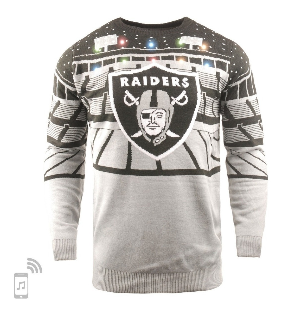 best sneakers bbbaf bea2f Oakland Raiders Bluetooth Ugly Sweater