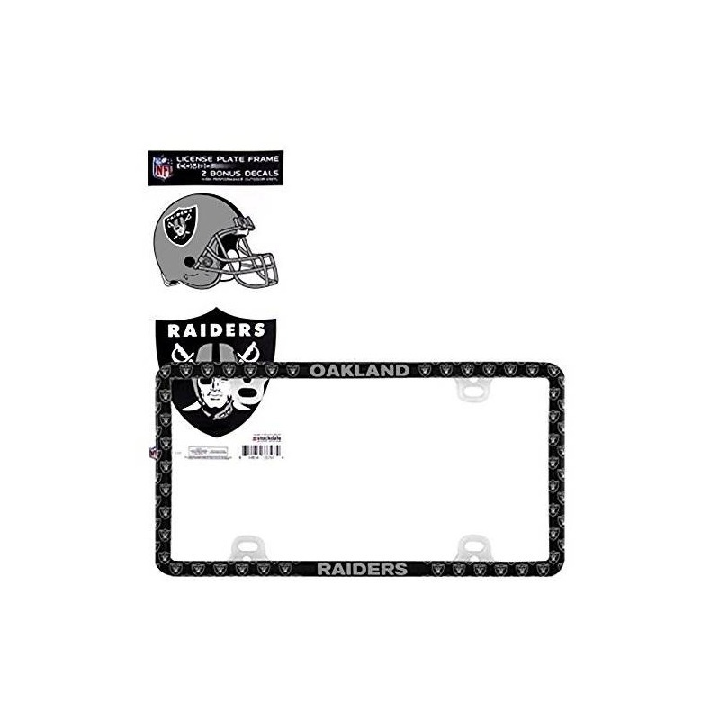 Atractivo Oakland Raiders Marco De La Matrícula Motivo - Ideas ...
