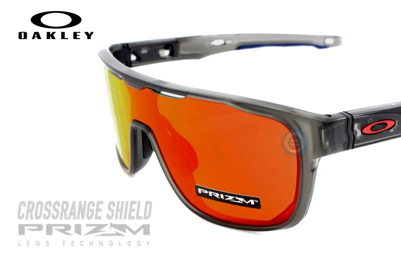 e5f41044d0bcd oakley 9387 04 crossrange shield matte grey smoke prizm ruby. Cargando zoom.