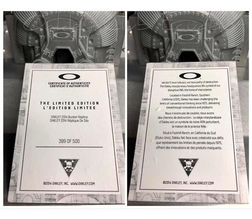 oakley bunker limited edition, solo 500 unidades en el mundo