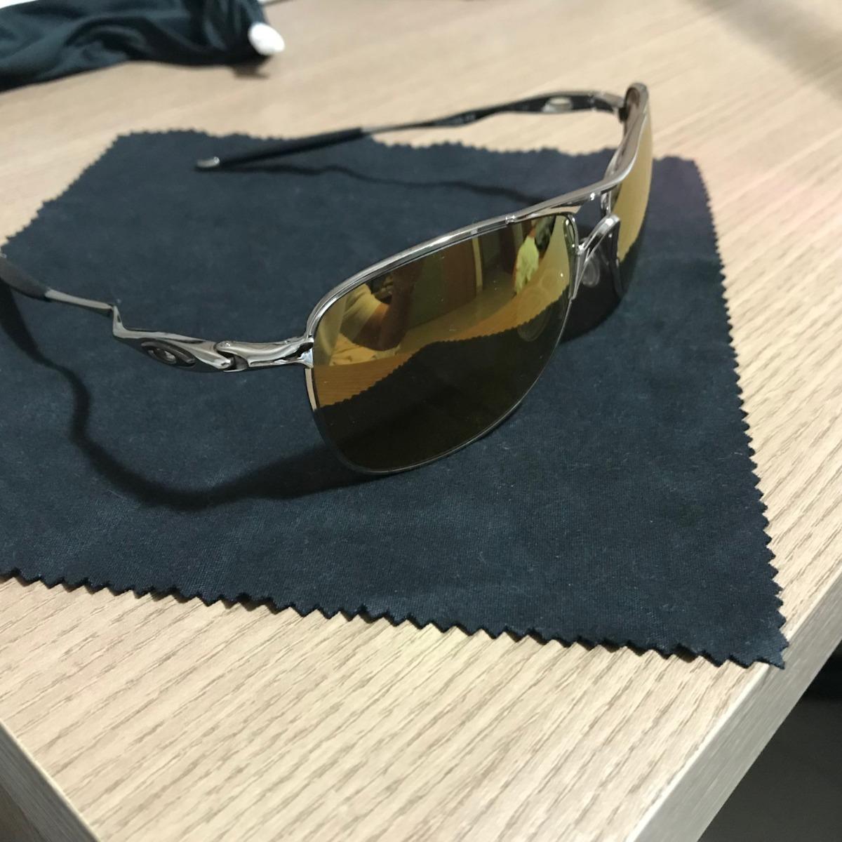 b28e114080d7d Oakley Crosshair Oo4060 02 Prata Lente Preto Iridium - R  250,00 em ...