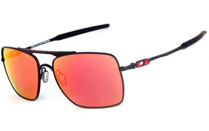 Óculos Masculino Oakley Deviation Lente Vermelha Polarizada - R  141 ... 4a78bda844