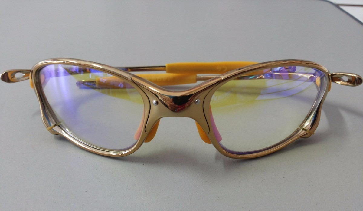 f121112895008 oakley double x squared juliet 24k dourada lente clear metal. Carregando  zoom.