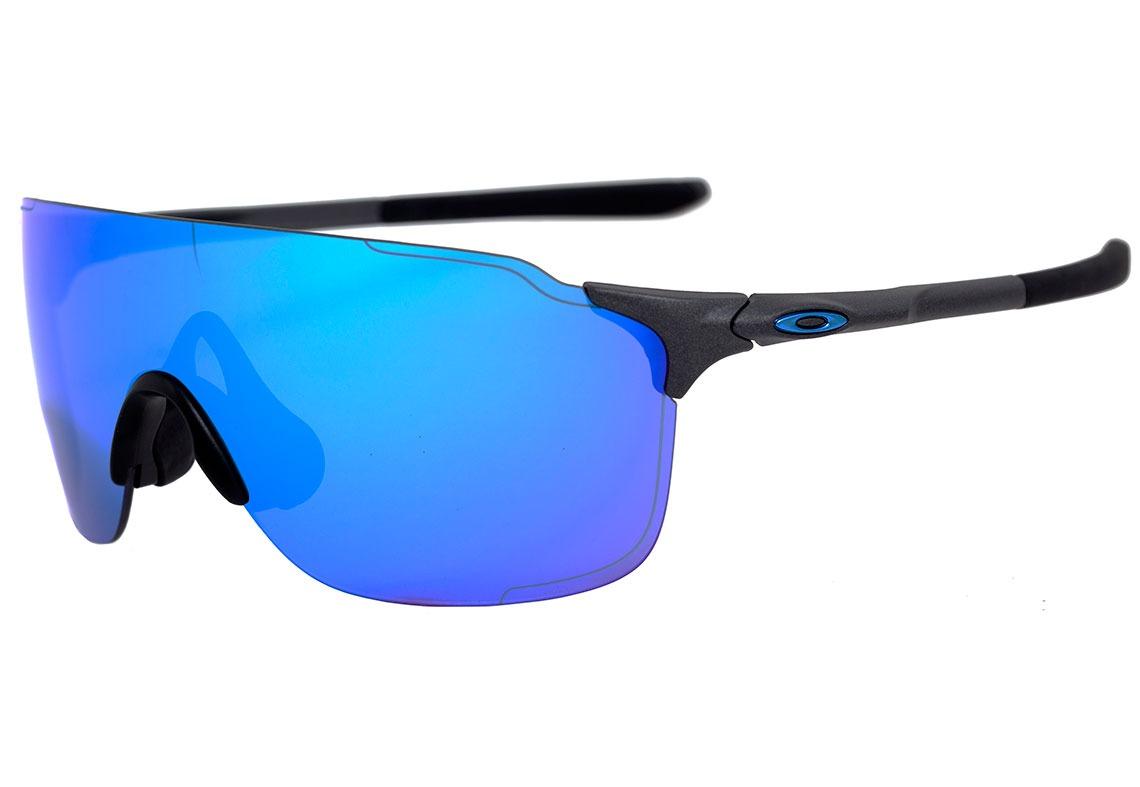 3f2358aecf6e4 oakley evzero stride - óculos de sol steel  sapphire iridium. Carregando  zoom.