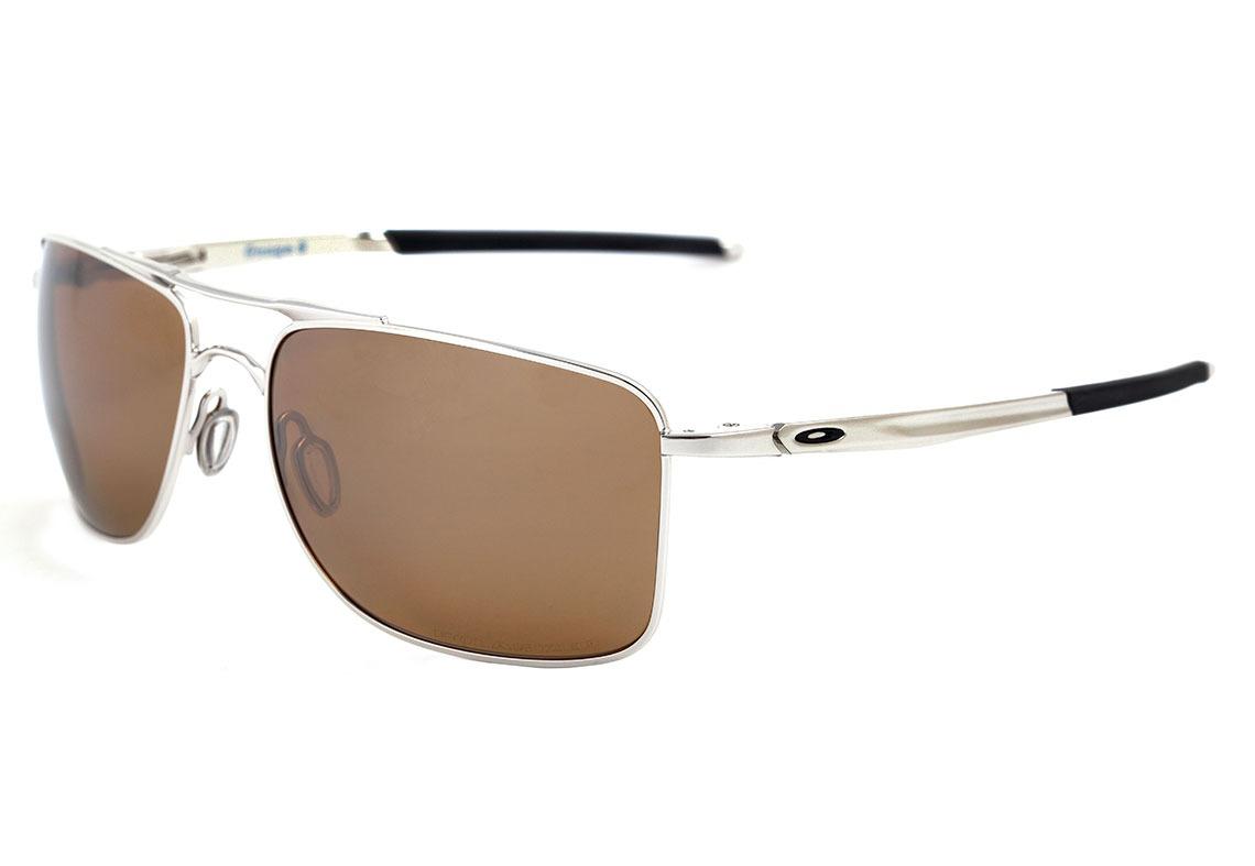 68696a1edf726 oakley gauge 8 - óculos de sol polished chrome  tungsten. Carregando zoom.