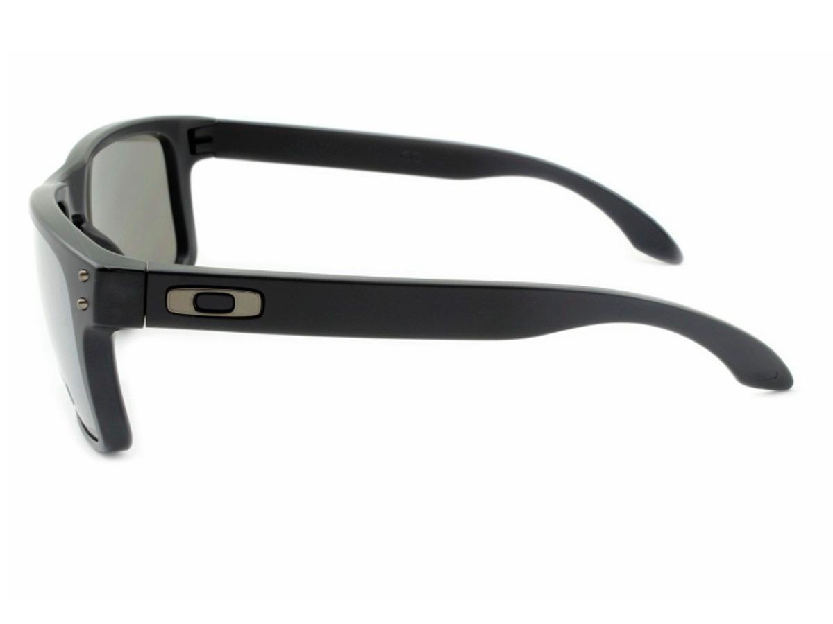 ac6c4033b25f9 Oakley Holbrook Matte Black Prizm Black Polarized - R  499,00 em ...