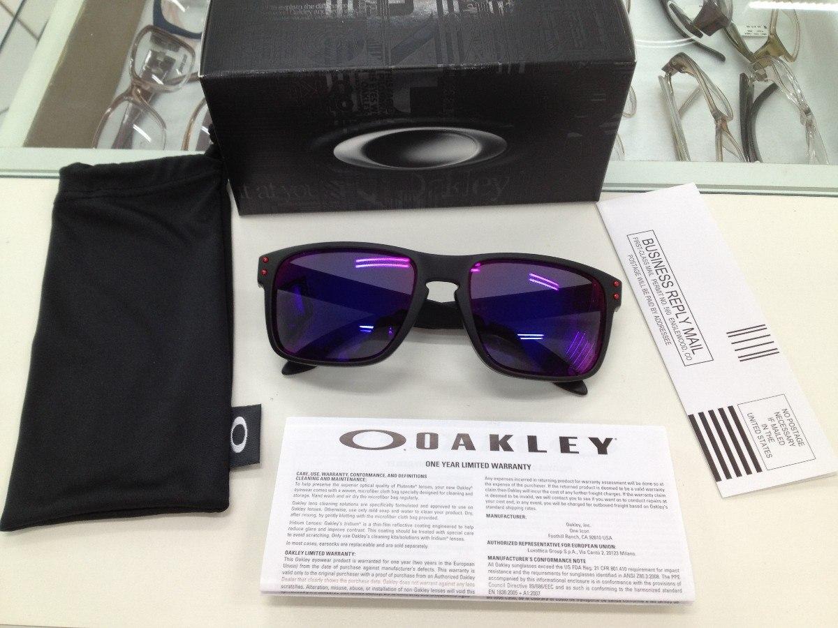 6afe2bad31ce9 Oculos Oakley Holbrook 009102l-36 Matte Black L .red Iridium - R ...