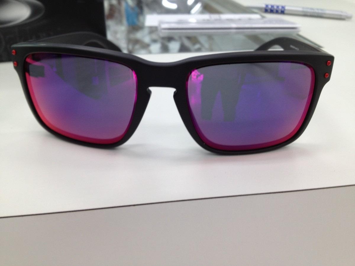 ccad4fce16d5a Carregando zoom... oculos oakley holbrook 009102l-36 matte black l .red  iridium