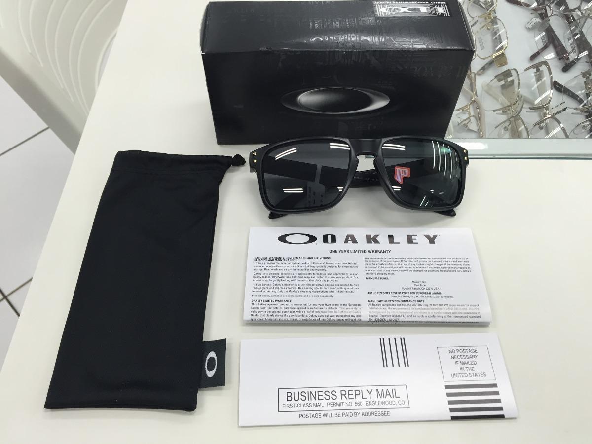 50e7ba30aa6a2 Oculos Solar Oakley Holbrook Polarizado 009102l-17 Sw Gld - R  459 ...