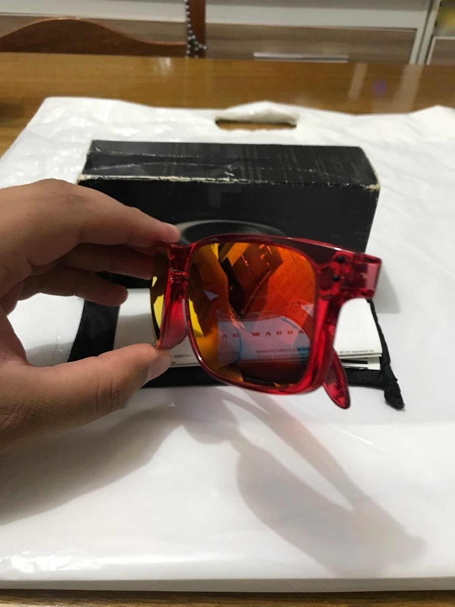 69dde9923b369 Óculos Oakley Holbrook Ruby (crystal Red Ruby Iridium) - R  220