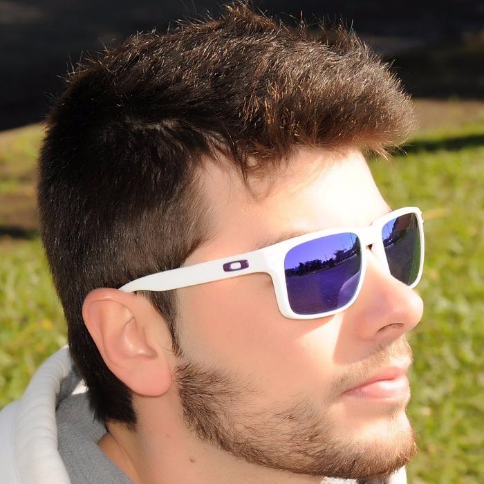 0006574b3da1f oculos oakley holbrook matte white   violet iridium - 910205 · oculos  oakley holbrook · oakley holbrook oculos