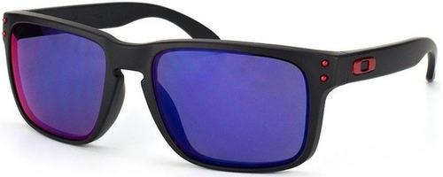 ac9f784f00a4a oakley holbrook oculos · oculos oakley holbrook oo9102l espelhado preto e  vermelho