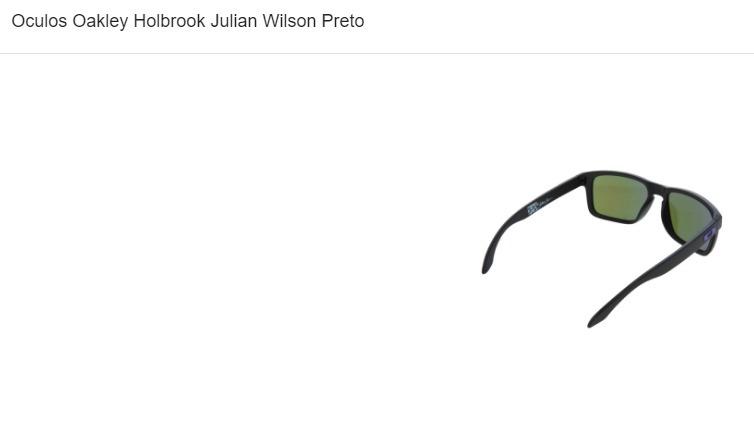 5ab3ada1232b9 Óculos Oakley Holbrook Julian Wilson Preto - R  320,00 em Mercado Livre