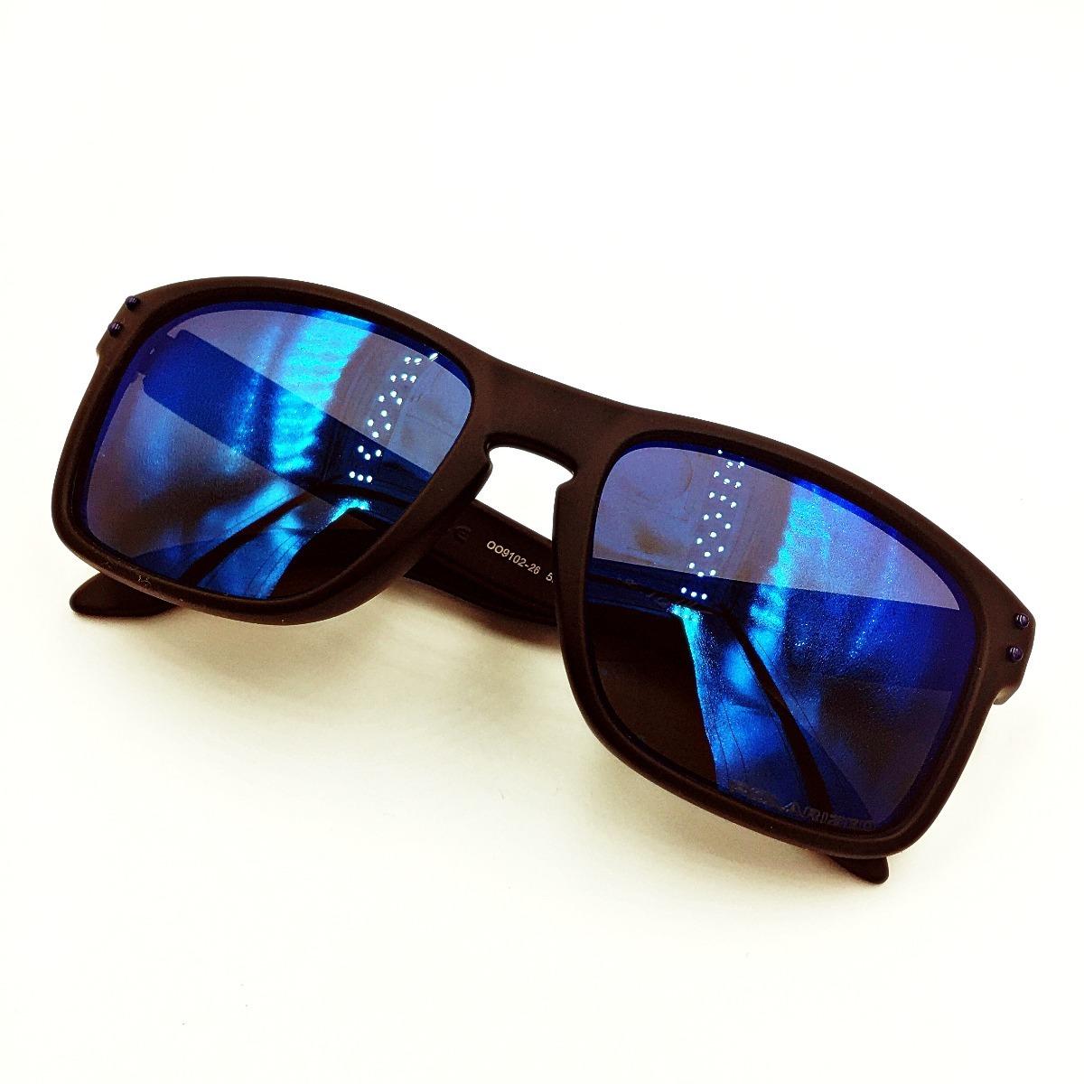 8bfc2570a3 oakley holbrook oo9102 26 azul espejo negro mate +metal case. Cargando zoom.