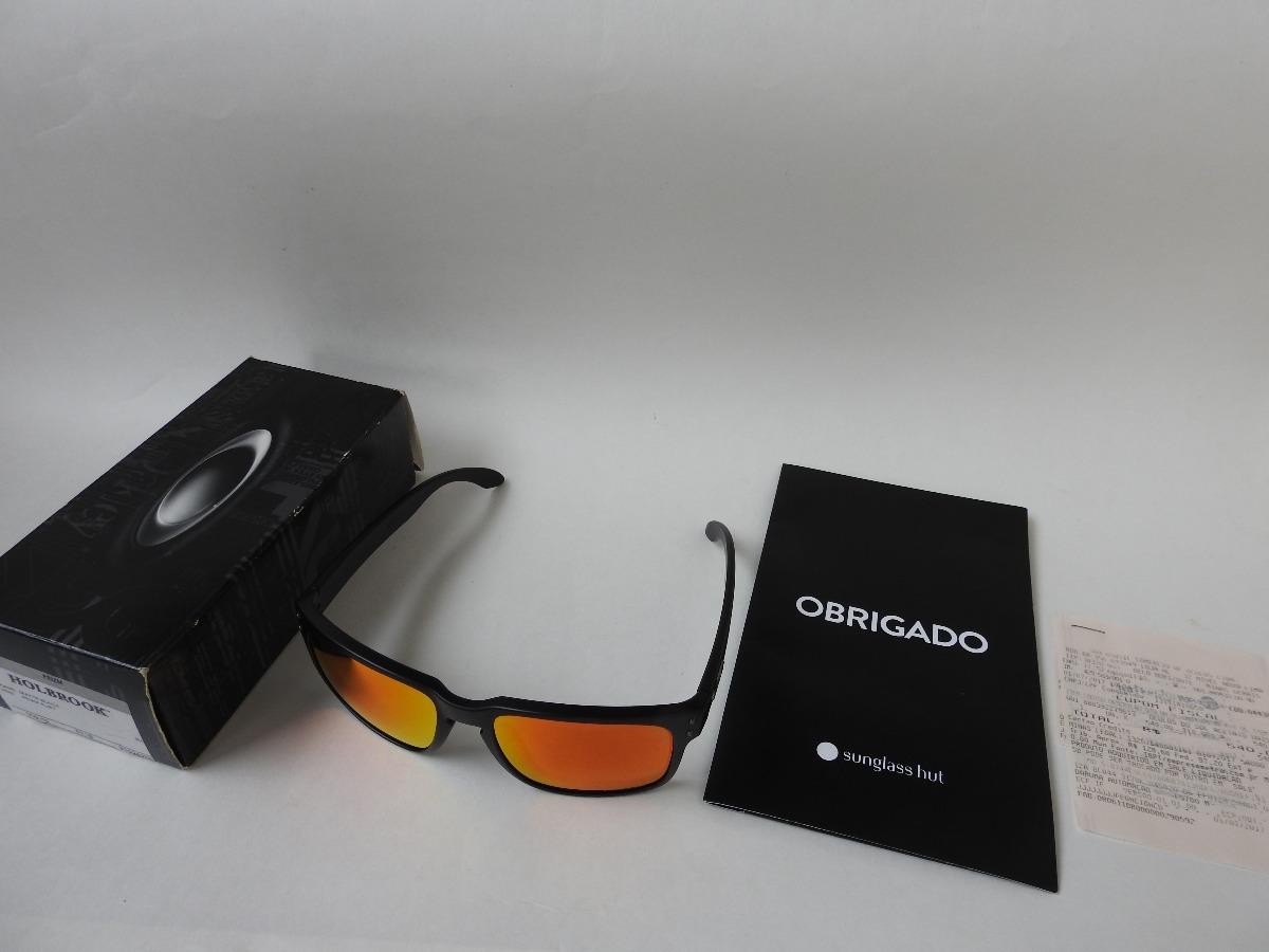 Oakley Holbrook Oo9102-e255 - Matte Black prizm Ruby - R  395,00 em ... 564cd9d820