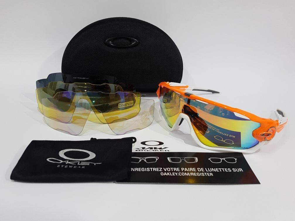 oakley jawbreaker troca 4 lentes óculos sol ciclismo tr90. Carregando zoom. 81fb8fb95f