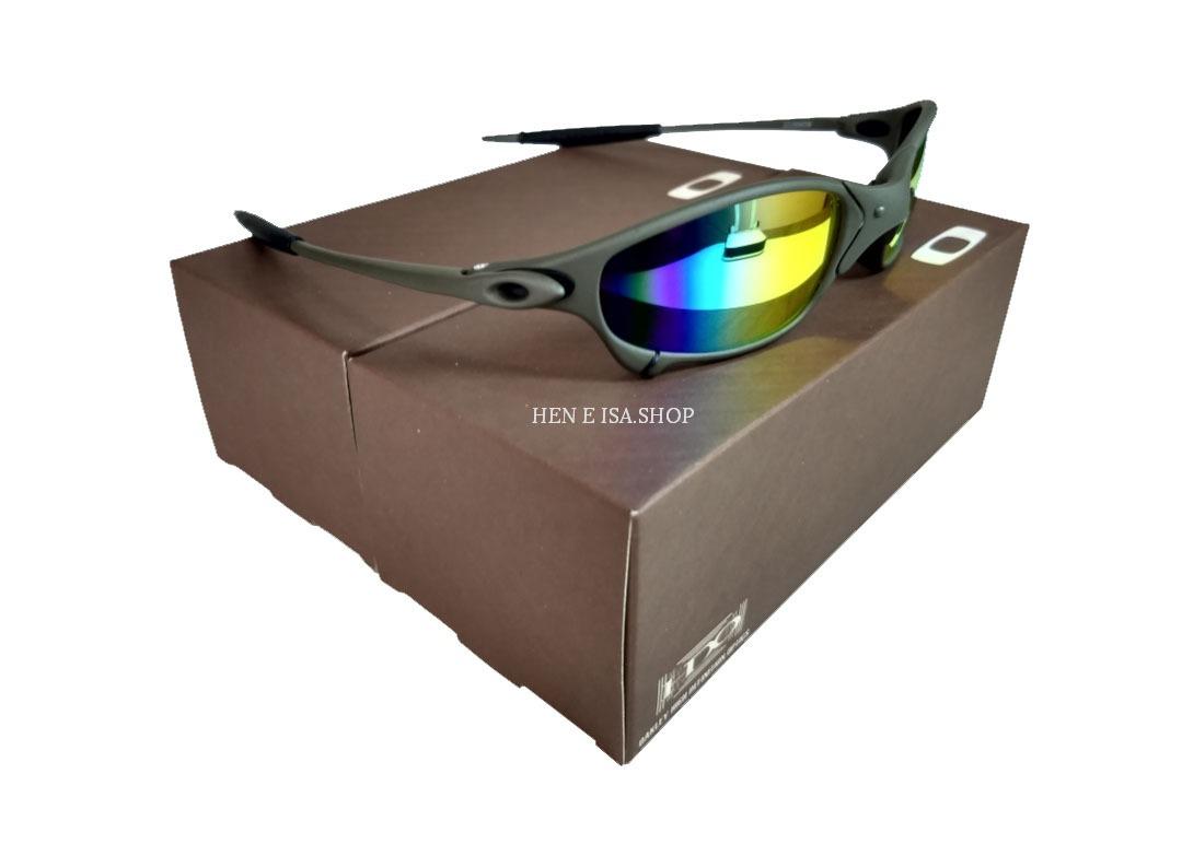 6db5821b66041 Carregando zoom... oculos oakley juliet arco-íris + certificado+teste+chaves