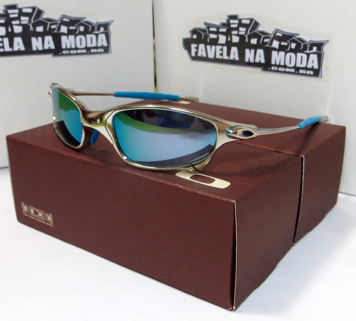 Carregando zoom... óculos oakley juliet   polished   ice thug + par de  lentes a5a6792ed2