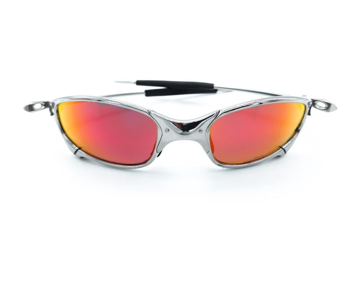 8fb3a986d9f69 Carregando zoom... óculos oakley juliet cromada xmetal lente ruby promoção