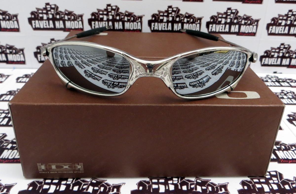 Carregando zoom... óculos oakley juliet  polished  liquid metal + par de  lentes 35fd7f6c0c