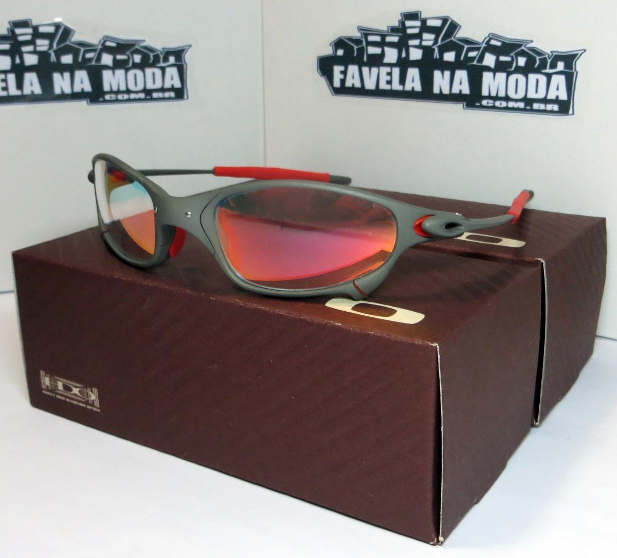 Carregando zoom... óculos oakley juliet   xmetal   clear verm. + par de  lentes 7498465a44