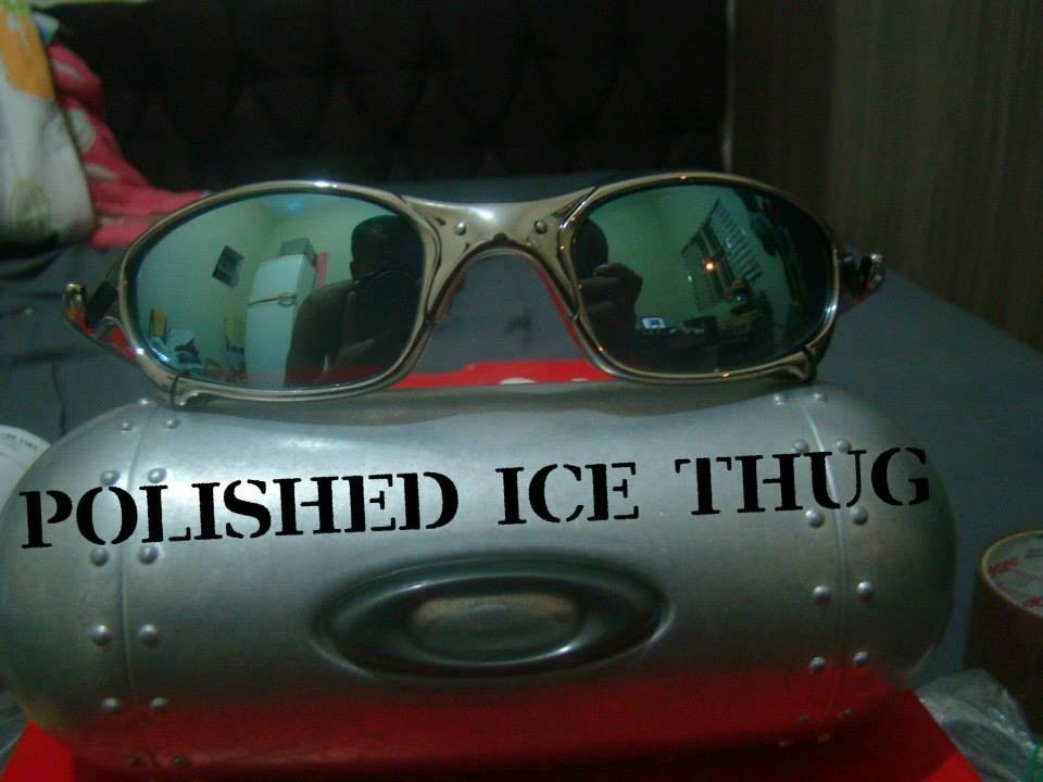 Óculos Oakley Juliet Cromado Polarized + 1 Lente Brinde - R  135,06 ... d386fe06bc