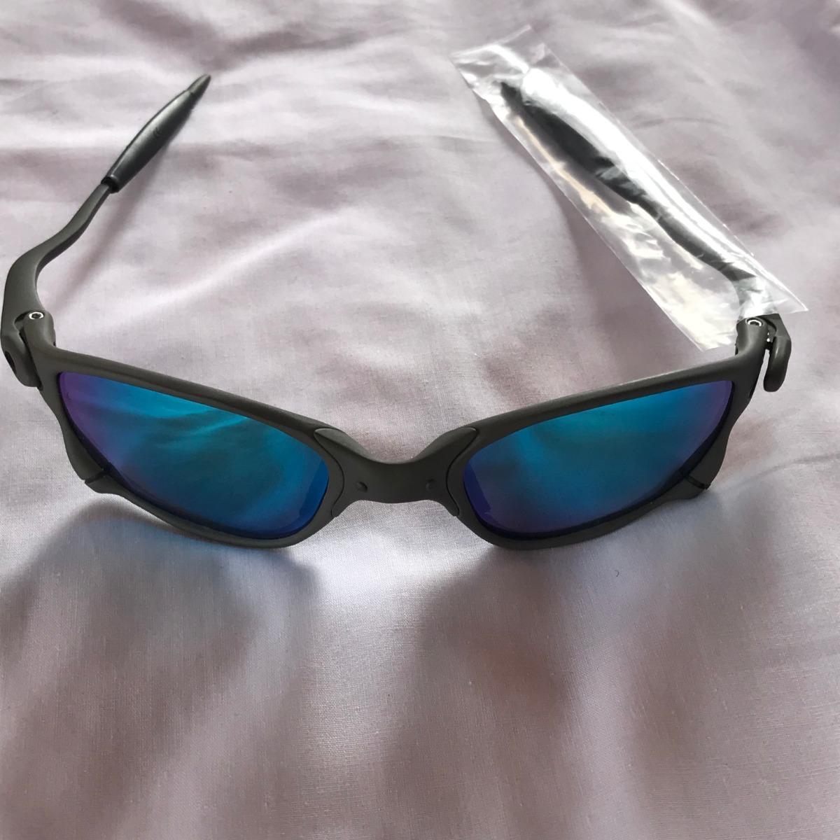 eb0d35927f8f1 Carregando zoom... óculos oakley x metal double x 24k lentes azul juliet  lupa