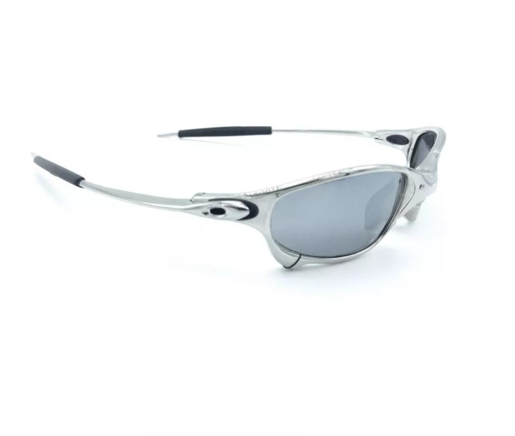 Oculos Oakley Juliet Cinza Preta Cromada Polarizada Metal!!! - R ... e0ad0d00a5