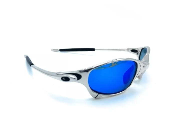 f30b6480cca45 Oculos Oakley Juliet Polarizada Pronta Entrega Prata Azul!!! - R  89,00 em  Mercado Livre
