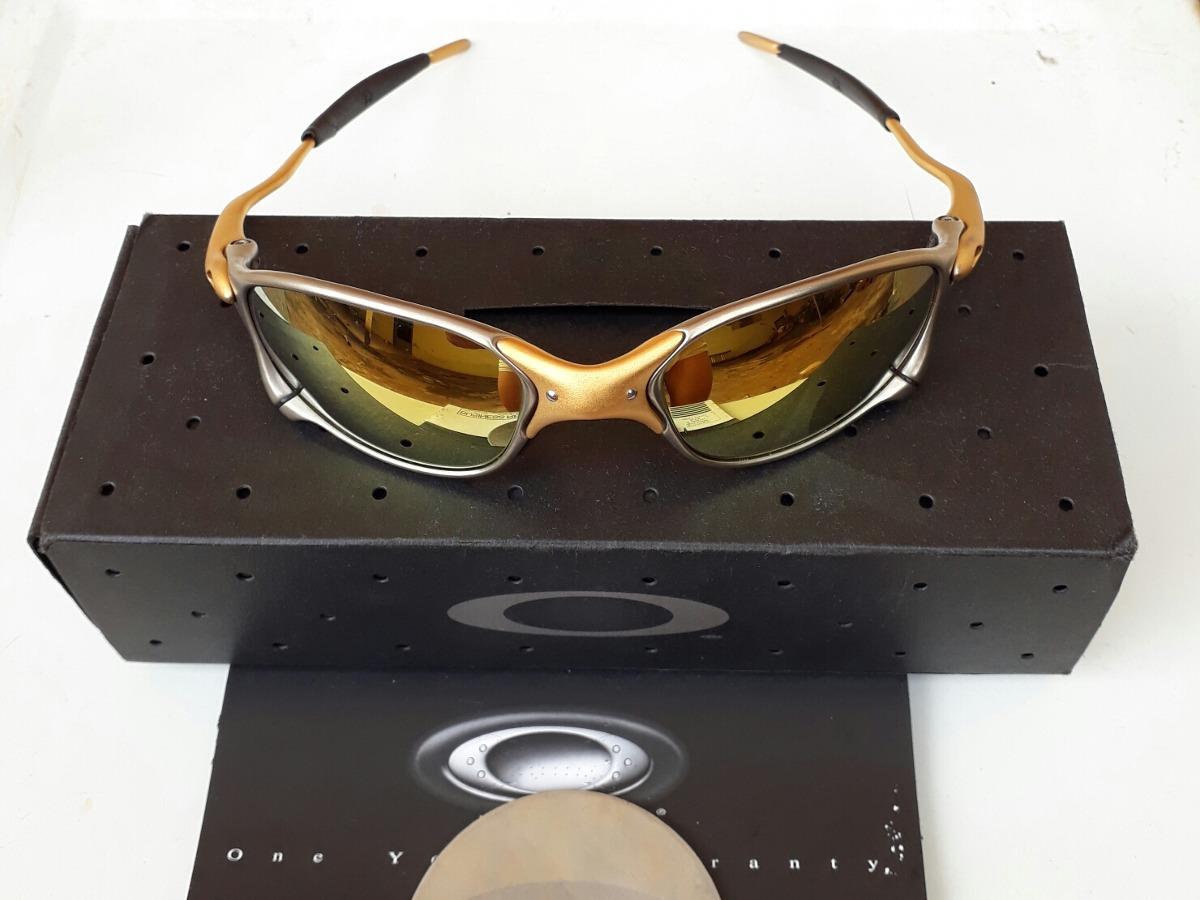 0bafd8a63b Óculos De Sol Oakley Juliet Xx 24k Edição Limitada Original - R ...