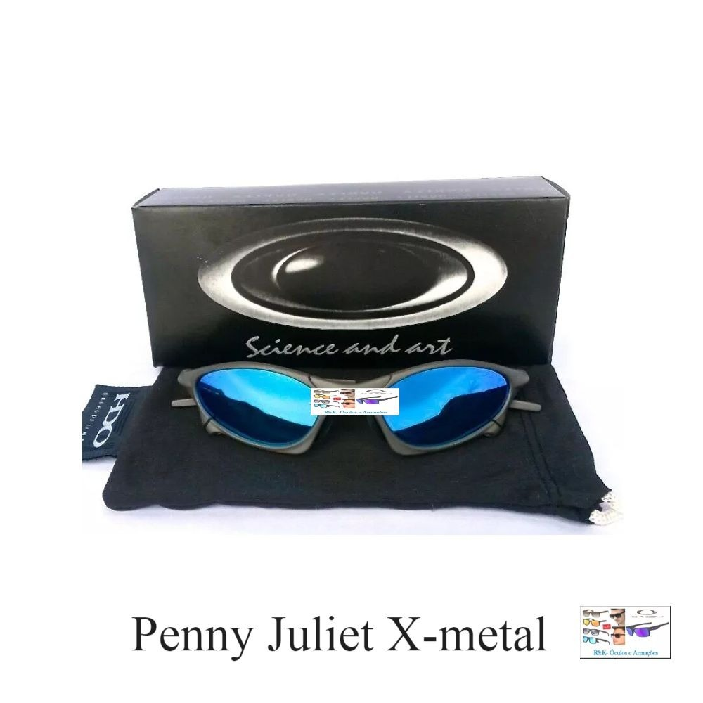 d80c20d4cb384 Oakley Juliet X-metal Azul Bb Polarizado - R  120,00 em Mercado Livre