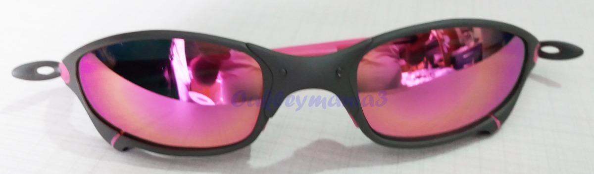 67c3fcb04 oakley juliet xmetal lente e borracha rosa pink polarizada. Carregando zoom.
