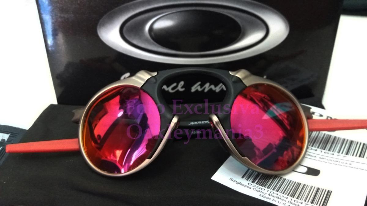 ad98218566cc5 Oakley Madman Plasma Black Ducati Lente Dark Ruby Usa - R  170,00 em ...