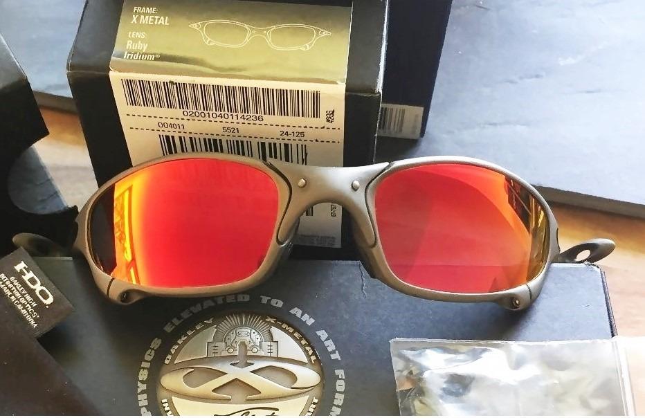 oakley oculos juliet x metal ruby iridium na caixa novo. Carregando zoom. 29cbfbda10