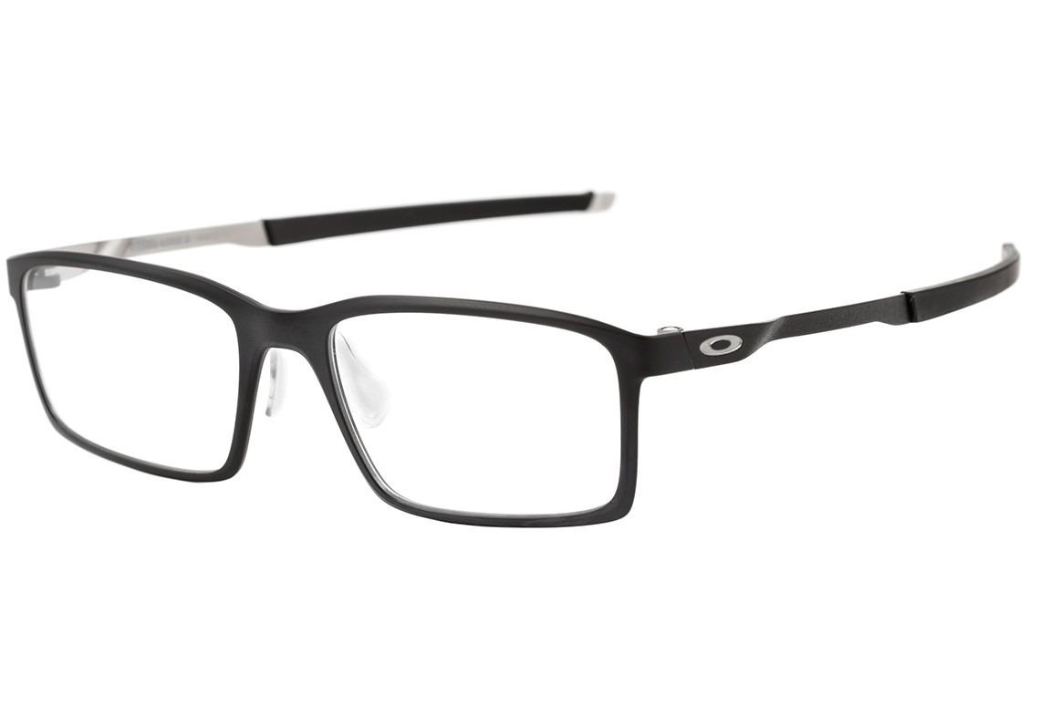 bfaaa933972a6 oakley steel line s - óculos de grau satin black - lente. Carregando zoom.