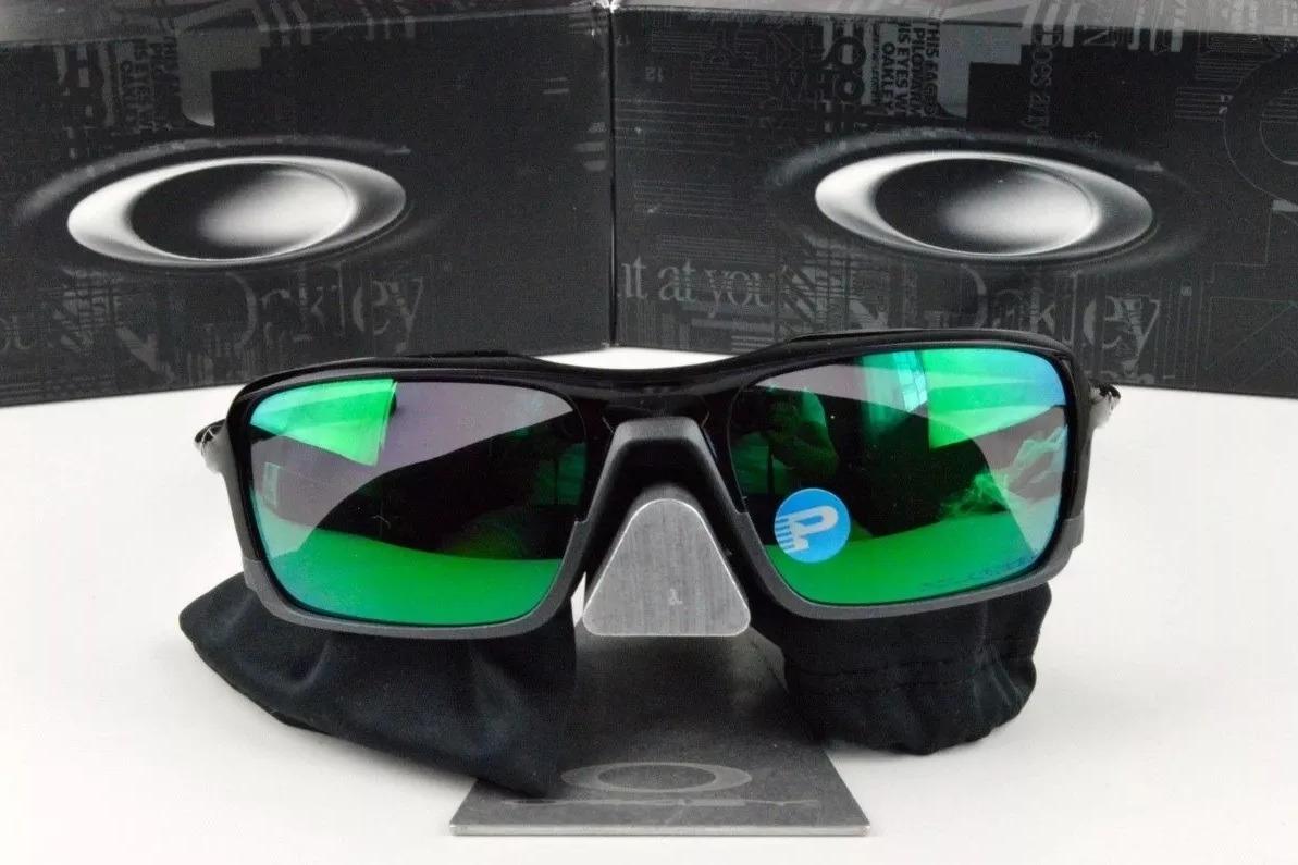 b5d44d3311bd0 oakley triggerman oo9314-02 preto verde polarizado original. Carregando zoom .