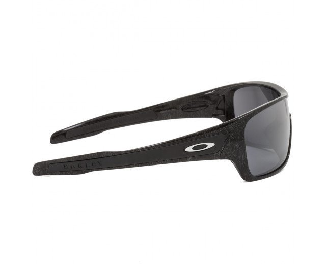 b90101e22e Oakley Turbine Rotor-óculos De Sol Black  Silver Ghost Text - R  380 ...