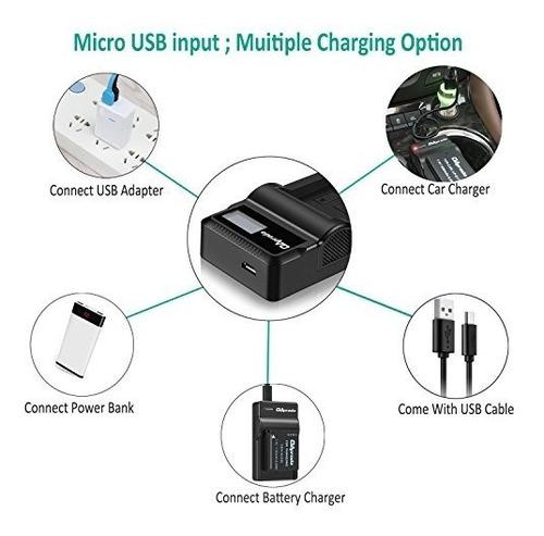oaproda lp-e17 nueva bateria actualizada (paquete de 2) y sm