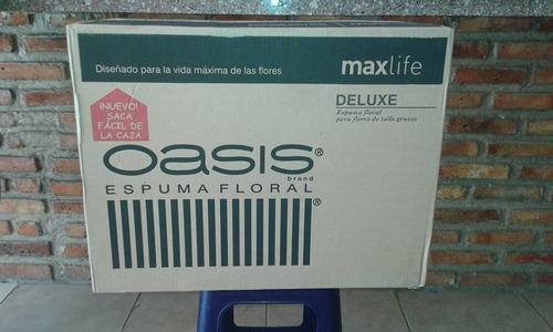 oasis espuma floral maxlife por unidad y por caja