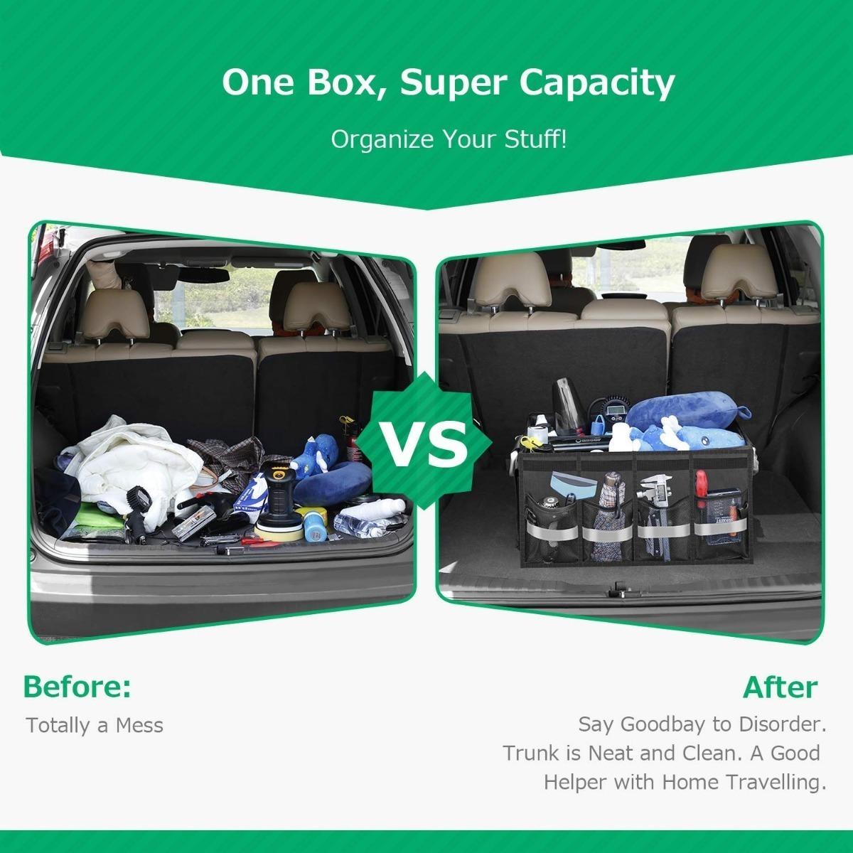 Organizador Desmontable Para Herramientas Espacio Maletero Auto Facil Limpieza