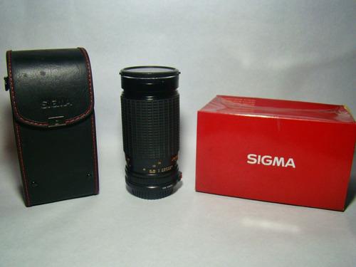 obejetivo o lente sigma 35 a 200 mm  4.0 a 5.6 para canon.